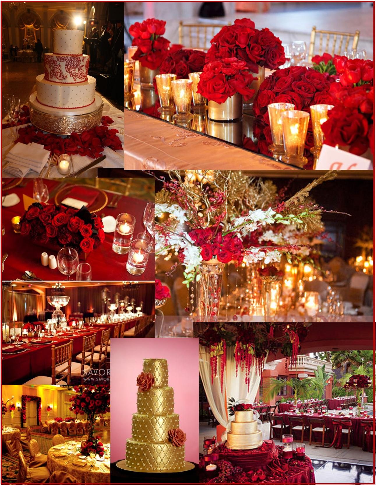 red and gold wedding ideas car interior design